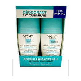 VICHY déodorant anti-transpirant bille 48h lot de 2 x 50 ml